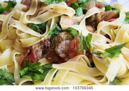 Porcini Mushrooms Tagliatelle