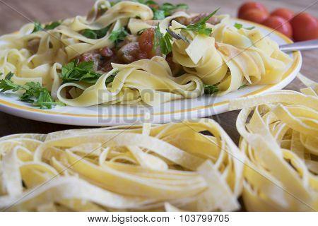 Egg Tagliatelle Wkth Porcini Mushrooms