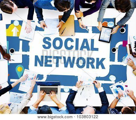 Social Network Internet Online Society Connecting Social Media Concept