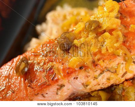 Salmon With Capers Sauce