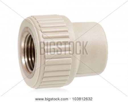 Fittings for plastic pipes - isolated on a white background