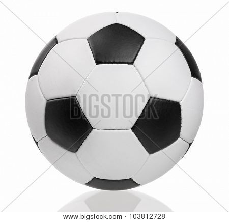 Classic soccer ball - isolated on white background