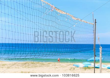 Volleyball Net On The Beach, Karon Beach, Thailand