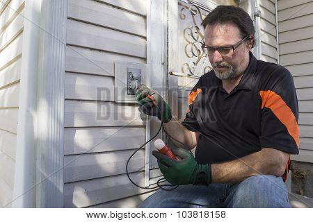 Using A Tester On Outside House Outlet