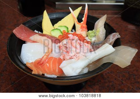 Japanese food seafood sashimi