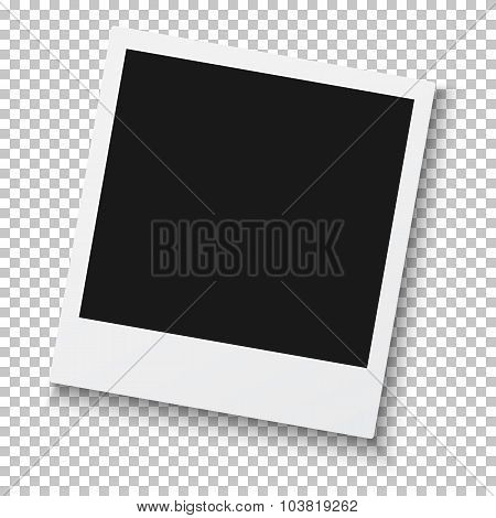 Photorealistic Retro Style Photo Frame Isolated on PS Background