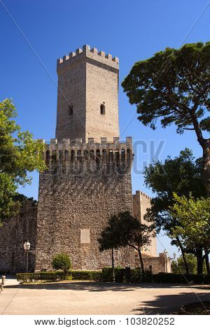 Norman Castle Called Torri Del Balio, Erice