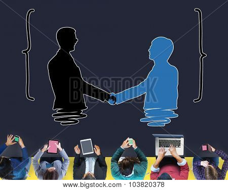 Handshake Greeting Corporate Deal Collaboration Concept