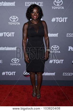LOS ANGELES - SEP 26:  Viola Davis arrives to the TGIT Premiere Red Carpet Event  on September 26, 2015 in Hollywood, CA.