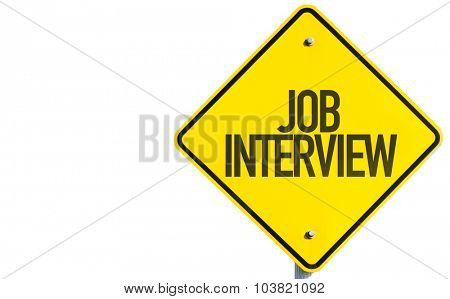 Job Interview sign isolated on white background