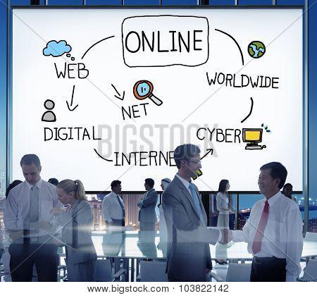 Online Internet Social Networking Concept