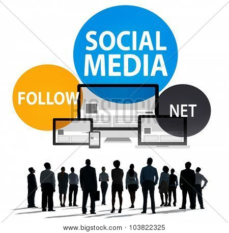 Social Media Follow Networking Connecting Internet Concept