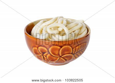 Japanese Noodle, Udon In Bowl On White Background