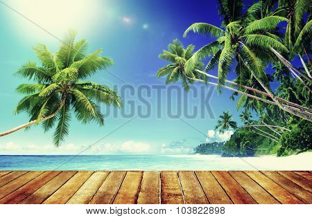 Tropical Paradise Beach Summer Travel Vacation Concept