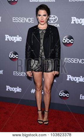 LOS ANGELES - SEP 26:  Karla Souza arrives to the TGIT Premiere Red Carpet Event  on September 26, 2015 in Hollywood, CA.