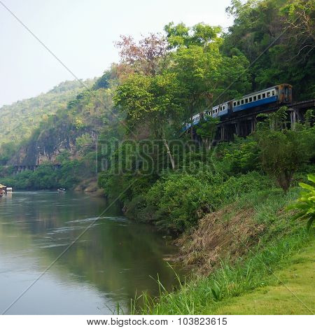River Kwai, And Death Railway And Bridge