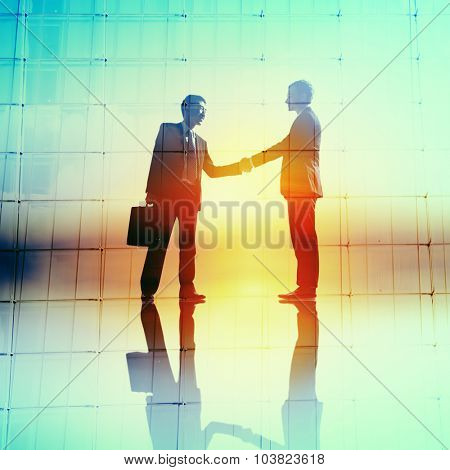 Handshaking Business Agreement Greeting Deal Collaboration Concept