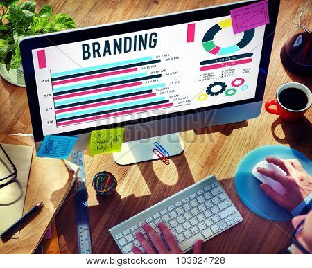 Brand Branding Copyright Advertising Banner Concept