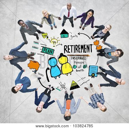 Business People Retirement Teamwork Support Concept