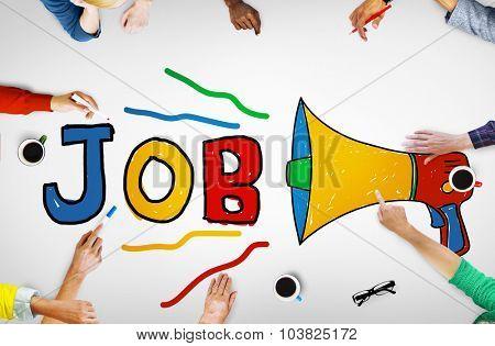 Job Career Occupation Recruitment Human Resource Concept