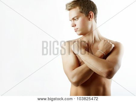 Portrait of sexy male model