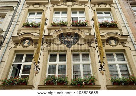 PRAGUE, CZECH REPUBLIC - AUGUST 18, 2015: Prague architecture. Prague is the capital and largest city of the Czech Republic. It is the 15th largest city in the European Union.