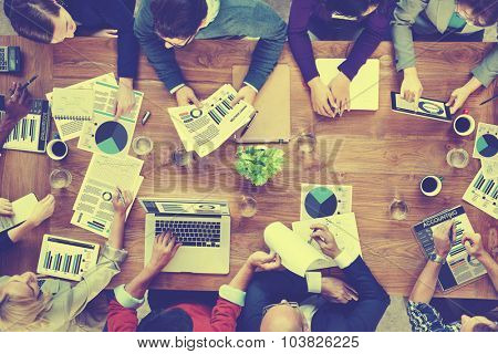 Marketing Analysis Accounting Team Business Meeting Concept