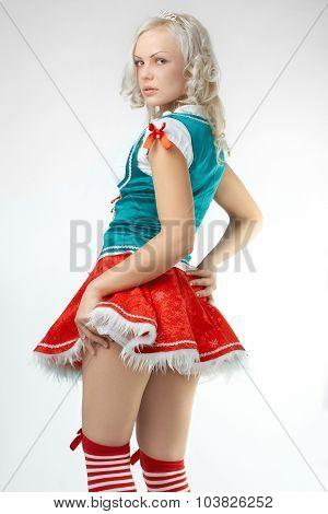 Young sexy Santa Girl