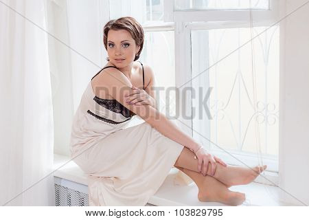 Sexy woman in nightdress