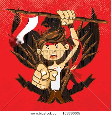 Indonesian National Heroes Patriot Warrior