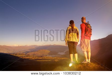 Hiking Hiker Climbing Healthy Lifestyle Concept