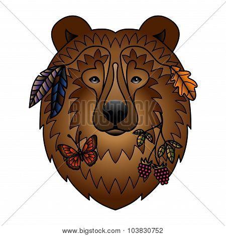 Bear color tattoo