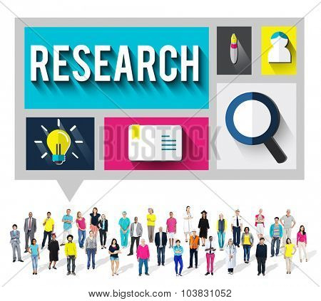 Research Knowledge Discovery Education Concept
