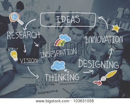 Ideas Thinking Strategy Creativity Planning Inspiration Concept