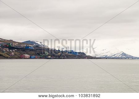 Skyline Of Barentsburg, Russian Settlement In Svalbard, Norway