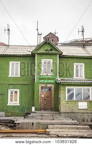 Old Port Sea Office In Barentsburg, Svalbard
