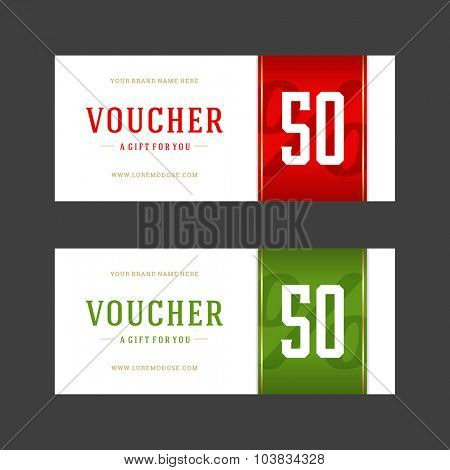 Voucher template retro design vector illustration