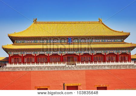 Pagodas, Pavilions Within The Complex Of The Temple Of Heaven In Beijing, China.chinese Translation
