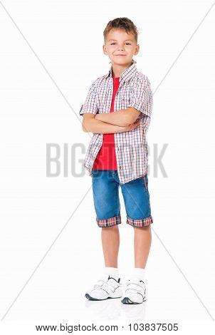 Boy With Hands Folded
