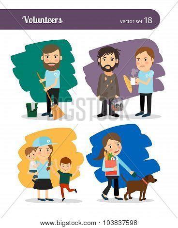 Volunteers characters