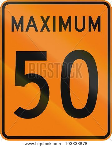 Temporary Maximum Speed 50 Kmh In Canada