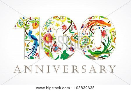 100 anniversary ethnic numbers