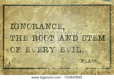 Ignorance Plato