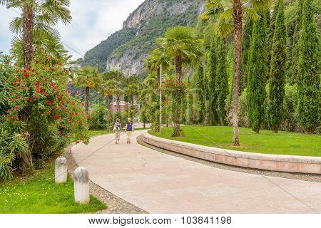 Scenery of Italy series - Riva del Garda. Lake Garda. Italy.
