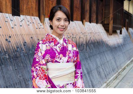 Japanese woman at street