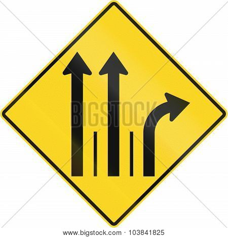 Three Lanes With Right Turn Lane In Canada