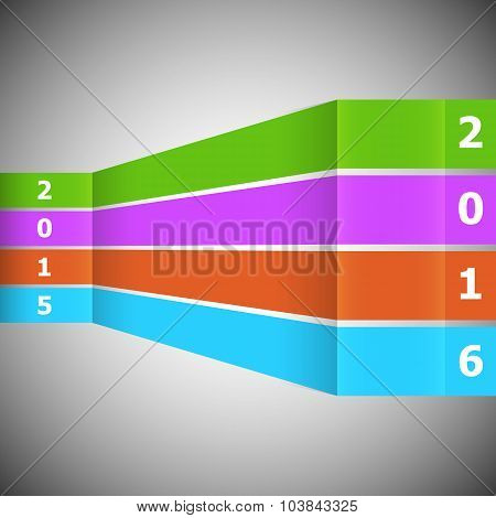 Abstract Colorful Banner With 2016