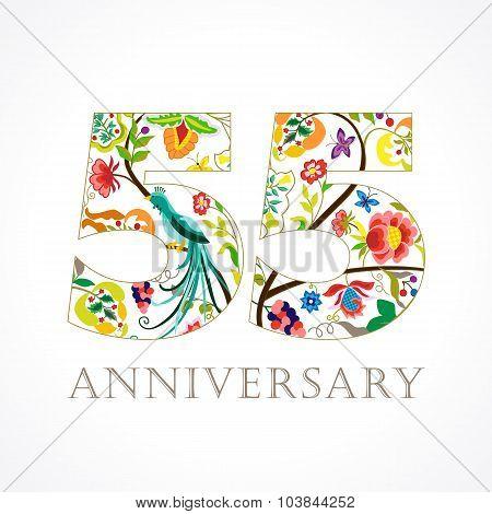 55 anniversary ethnic numbers
