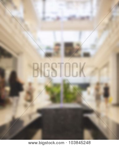 Blurred shopping retail shop in perspective
