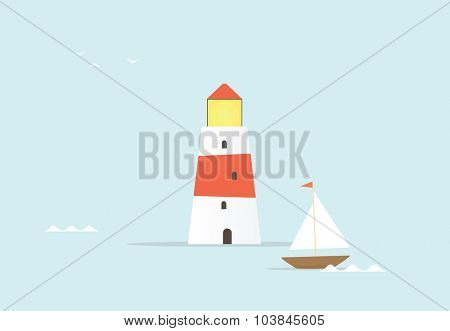 cartoon lighthouse
